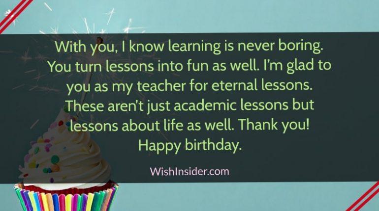 Happy Birthday Teacher