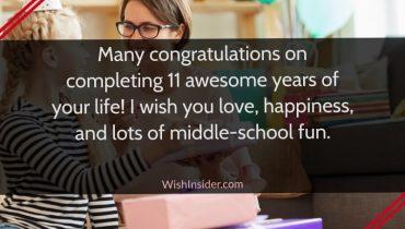 happy 11th birthday quotes