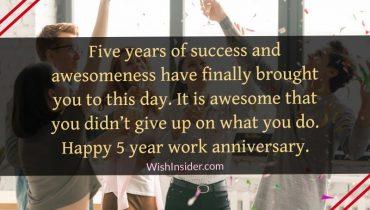 happy 5 year anniversary wishes