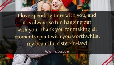 thank you sister in law messages