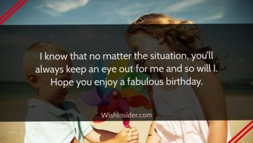 birthday wishes from sister to brother