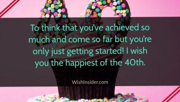 happy 40th birthday wishes