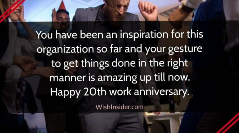 happy working 20th anniversary quotes
