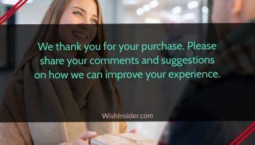 thank you notes for customers